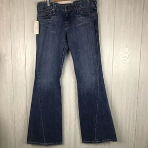 Armani Exchange ultra low flare leg jeans